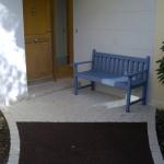 Pavage devant la porte d'entrée